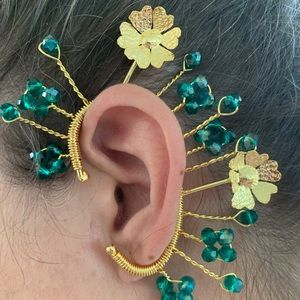 HANDMADE EAR CUFF - BATHED IN 24K GOLD